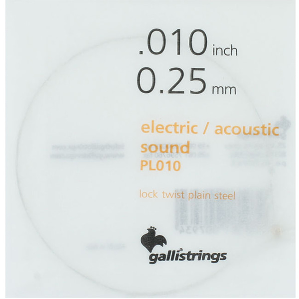 Galli String ProCoated Electric&Acoustic 코팅 낱줄 010(PL010)